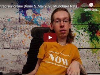 Das Startbild unseres YouTube Videos zum Protesttag am 5. Mai 2020